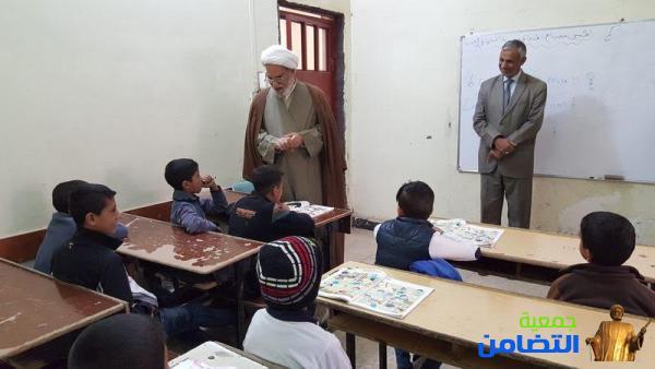 الشيخ محمد مهدي الناصري :يطلع على سير العملية التدريسية والتربوية لمدرسة التضامن للأيتام في قضاء الجبايش (تقرير مصور)