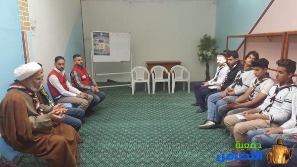 الشيخ محمد مهدي الناصري : يحضر أختتام  دورة الإسعافات الأولية التي أقامتها كشافة التضامن بالتعاون مع جمعية الهلال الأحمر العراقي