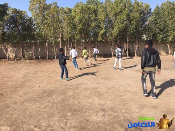 التقرير المصـور حول درس التربية الرياضيه في مدرسة التضامن الاولى في الناصرية
