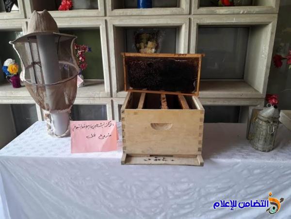 الشيخ محمد مهدي الناصري يشارك في افتتاح معرض المشاريع الصغيرة المقام في مركز التدريب المهني