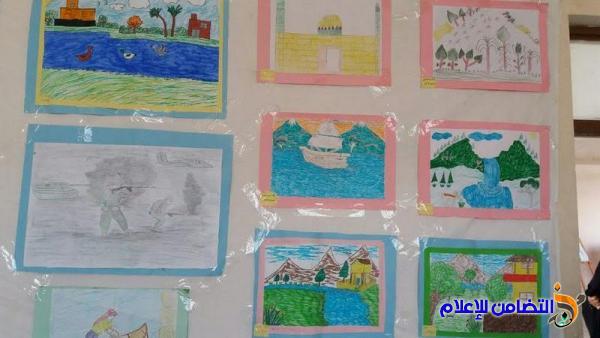 بالصور :: مدرسة التضامن الثالثة في الجبايش تحقق المركز الأول في المعرض السنوي للفنون التشكيلية
