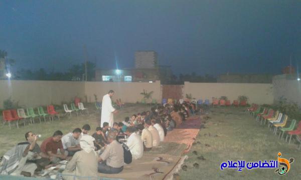 مبرة التضامن في ناحية  الفضلية:: تقيم مأدبة إفطار رمضانية بمناسبة مولد الامام الحسن عليه السلام(مصور)