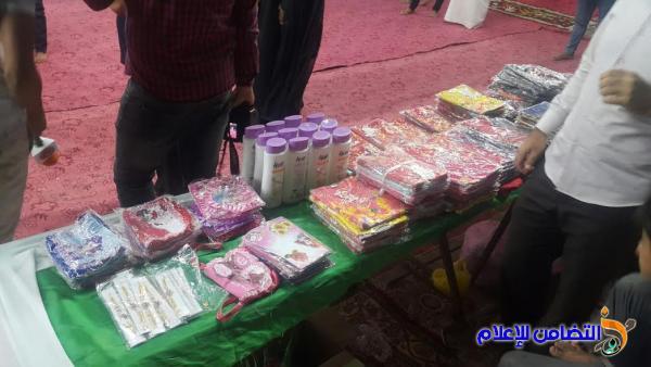 بالصور ::موكبا حسينيا  يُقيم مأدبة إفطار وتوزيع كسوة العيد على أيتام مبرة سوق الشيوخ