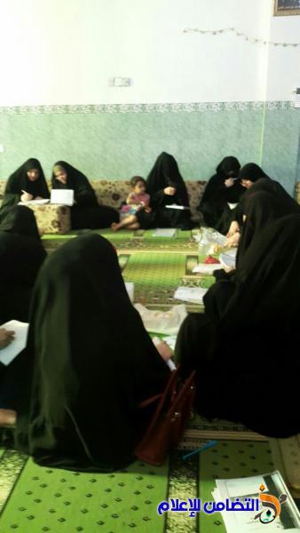 بالصور: حوزة التضامن النسوية فرع ناحية الغراف تواصل دروسها التفقيهية