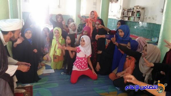 اللجنة المشرفة على مدارس الإمام الصادق (ع) تجري الاختبار التقييمي لعدد من دوراتها الصيفية - مصور -