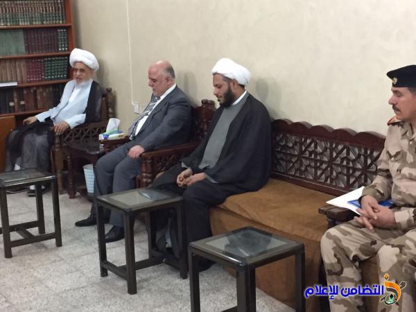 رئيس الوزراء العبادي : يزور آية الله الشيخ محمد باقر الناصري