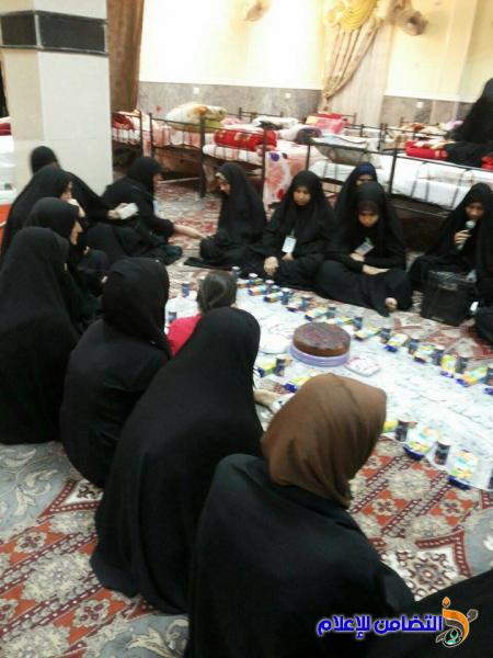 حوزة التضامن النسوية في ذي قار تختتم عامها الدراسي بزيارة العتبات المقدسة -مصور-