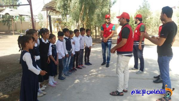 الهلال الأحمر العراقي تقيم محاضرة صحية توعوية لتلاميذ مبرة التضامن في الجبايش - مصور -
