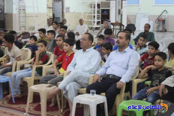 بالصور والصوت ..إحياء الليلة الثامنة من شهر رمضان المبارك بجامع الشيخ عباس الكبير