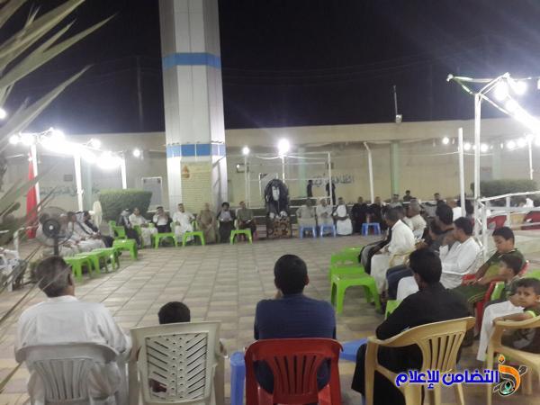 بالصور ..مقام امير المومنين(ع) في الناصري:: يحيي ليالي شهر رمضان بأقامة المجالس الرمضانية