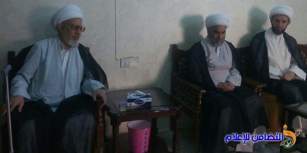 بالصور: آية الله الشيخ الناصري يستقبل المهنئين بعيد الفطر المبارك