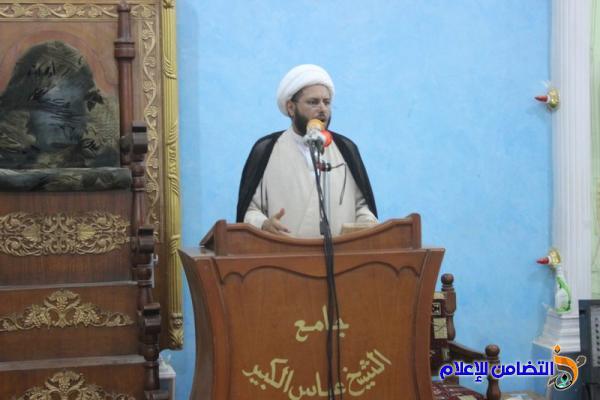 بالصور والصوت ...إقامة صلاة الجمعــة  في مسجد الشيخ عباس الكبير بالناصرية