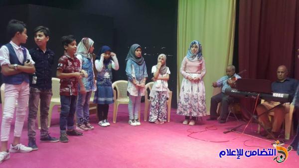 تلاميذ مبرة التضامن السادسة للأيتام يشاركون في مهرجان الطفل والطفولة في الشطرة - مصور-
