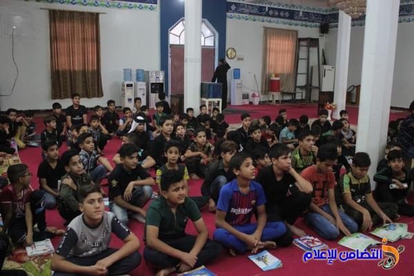اللجنة المشرفة على مدارس الإمام الصادق تجري الاختبار التقييمي لعدد من دوراتها الصيفية