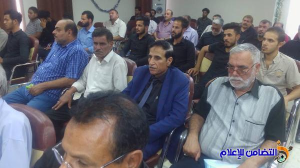 الشيخ محمد مهدي الناصري: يشارك في الحفل التأبيني الحسيني بنقابة المعلمين في ذي قار