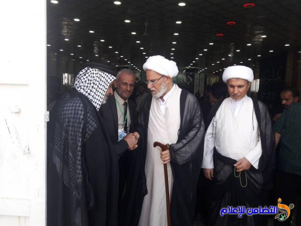 بالصور: الشيخ محمد مهدي الناصري  يحضر مسابقة الثقلين القرآنية الثالثة في محافظة ذي قار