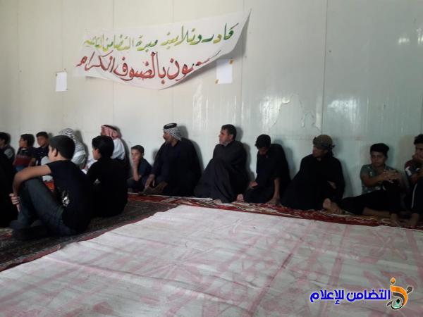 بالصور :تلاميذ مدرسة التضامن الثانية في ناحية النصر :يحيون ذكرى شهادة الامام السجاد (ع)