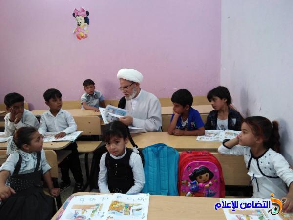 الشيخ محمد مهدي الناصري يزور مبرات التضامن للأيتام في مناطق المنار والفهود والجبايش