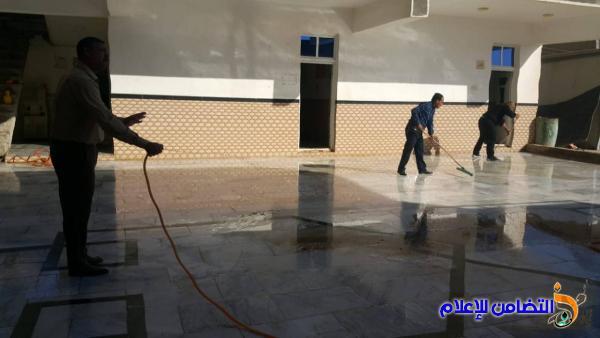 الكادر التعليمي في مبرة التضامن للأيتام في الشطرة ينظم حملة لتنظيف المبرة وتجهيزها