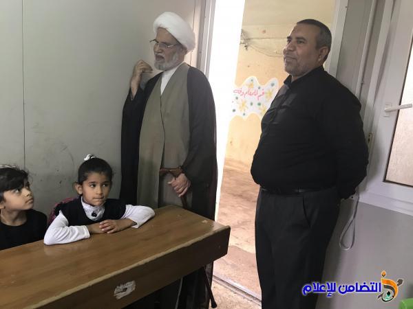 ((تقرير مصور)) عن زيارة الشيخ الناصري لمبرتي الأيتام في قضاء الاصلاح وناحية المنار
