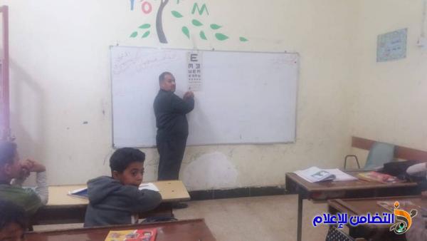 فريق من مركز الشهيد سعيد الأسدي الصحي يزور مبرة التضامن للأيتام في الجبايش