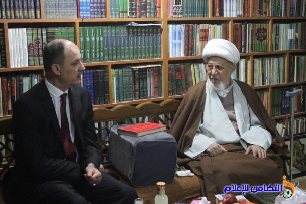 آية الله الشيخ  الناصري يستقبل وزير الثقافة والآثار الدكتورالحمداني ويدعو للاهتمام بالأهوار ومدينة أور