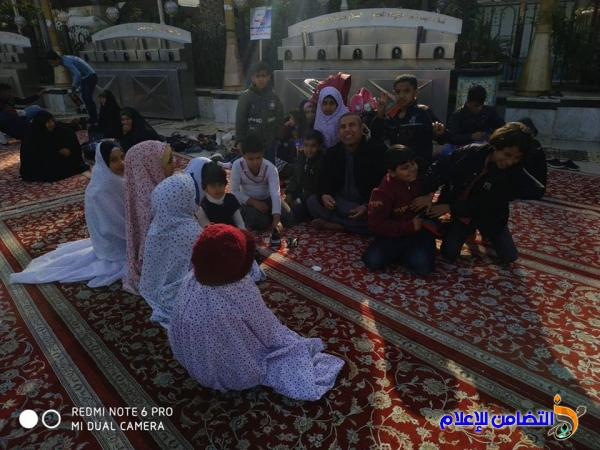 مبرة التضامن التاسعة للأيتام في الفهود تنظم سفرة دينية إلى العتبات المقدسة