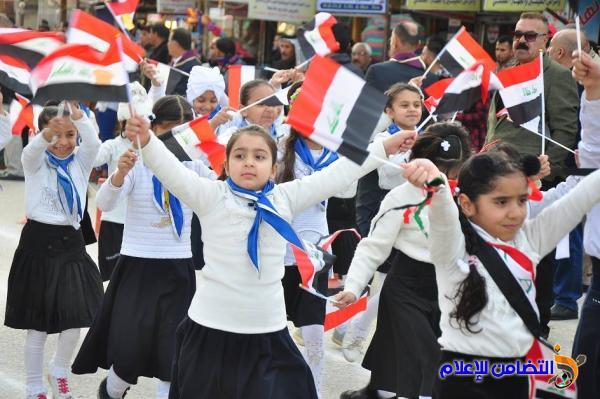 مدرسة التضامن الأولى للأيتام في الناصرية  تشارك في المسيرة الكشفية بمناسبة ذكرى تأسيس الجيش العراقي