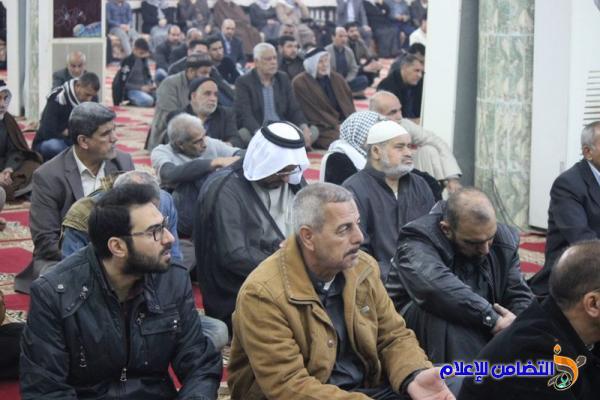 تقرير(صوتي -مصور) عن صلاة الجمعــة بامامة الشيخ محمد مهدي الناصري بجامع الشيخ عباس الكبير