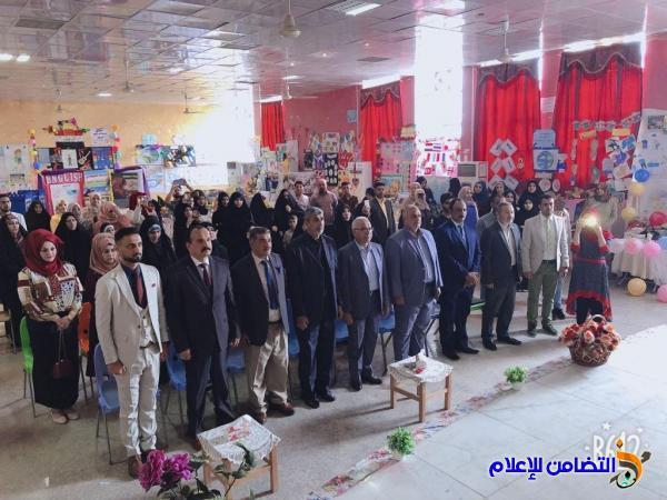 مدرسة التضامن الاولى للأيتام  في الناصرية تحصد المركز الأول في معرض وسائل اللغة الانجليزية  لمدارس المحافظة