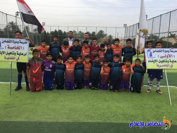 انطلاق البطولة الكروية لمدارس ومبرات التضامن للأيتام في ذي قار