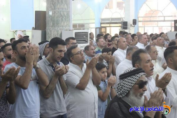 تقرير مصور حول إقامة صلاة عيــد الفطر بجامع الشيخ عباس الكبير في وسط الناصرية
