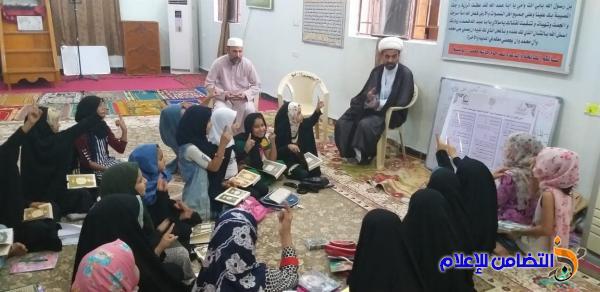 اللجنة المشرفة على مدارس الإمام الصادق الصيفية تجري زيارة تقييمية لعدد من دوراتها