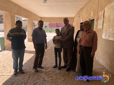 من اجل متابعة البرنامج الصيفي فيهما... مكتب التضامن للأيتام يزور مبرتي النصر والرفاعي