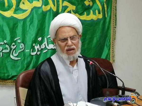 الشيخ محمد مهدي الناصري يشارك في الحفل التأبيني الحسيني لنقابة المعلمين