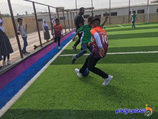 مدرسة التضامن الاولى للايتام تفتتح ملعبها المدرسي باقامة عدد من المباريات بين تلاميذها