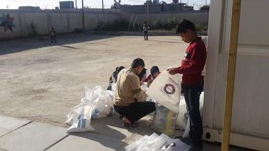 ناحية المنار: توزيع السلات الغذائية على الأيتام المسجلين في مبرة التضامن العاشرة