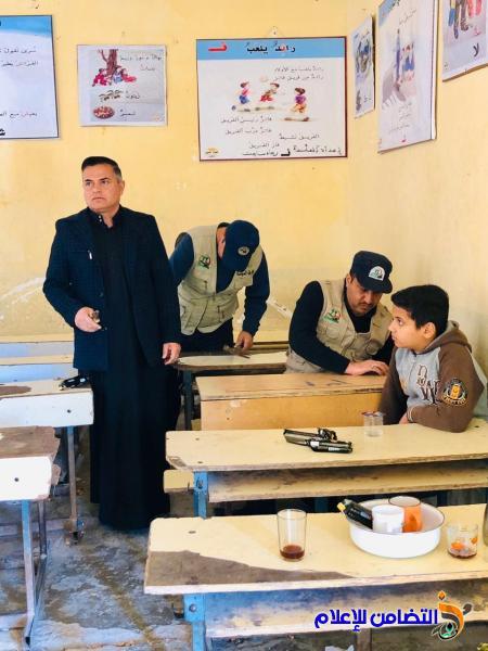 الشرطة المجتمعية تنظم حملة لتصليح الرحلات المدرسية في مبرة التضامن السابعة للأيتام