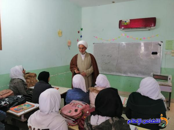 المشرف العام لمبرات التضامن يزور مبرتي التضامن الأولى الابتدائية والمتوسطة في الناصرية