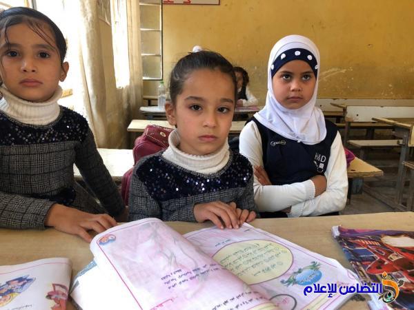 أكثر من 1300 تلميذ في مبرات التضامن للأيتام في محافظة ذي قار  يؤدون اليوم امتحانات نصف السنة