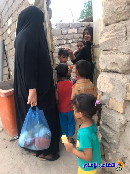 جمعية التضامن الاسلامي وبالتعاون مع منظمة تيما لاغاثة الأسرة وزعتا مجموعة من السلة الغذائية على العوائل المتعففة