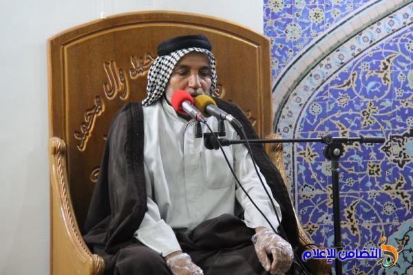 بالصور.. إقامة مجلس عزاء على روح آية الله الشيخ الناصري (طاب ثراه) في مركز الشيخ الخويبراوي