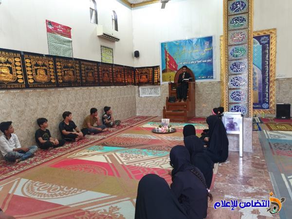 بالصور :مجموعة من الأيتام في ناحية المنّار يقيمون مجلساً عزائياَ على روح أحــد الكفلاء