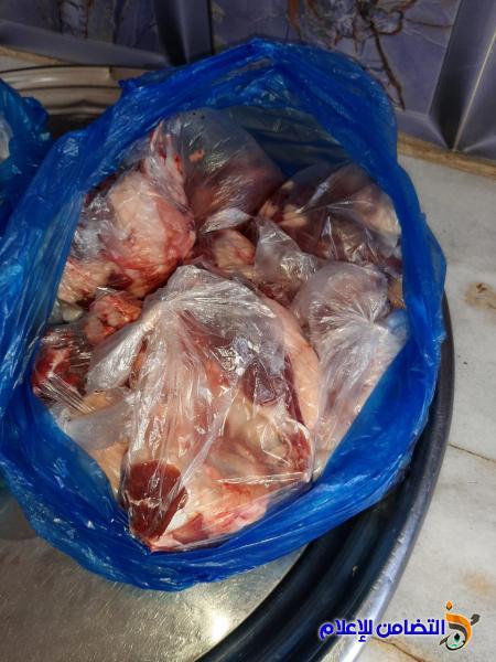 مبرات التضامن توزع كميات من اللحوم على عوائل الايتام في قضائي الشطرة والفهود