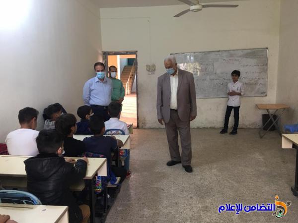 مبرة التضامن الأولى في الناصرية تنظم دورات تقوية لتلاميذها ومكتب التضامن للأيتام يزورها
