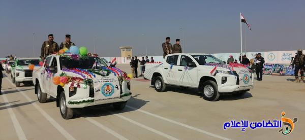 بالصور: وفد من جمعية التضامن الإسلامي يحضر  فعاليات الاستعراض العسكري بمناسبة عيد الشرطة العراقية