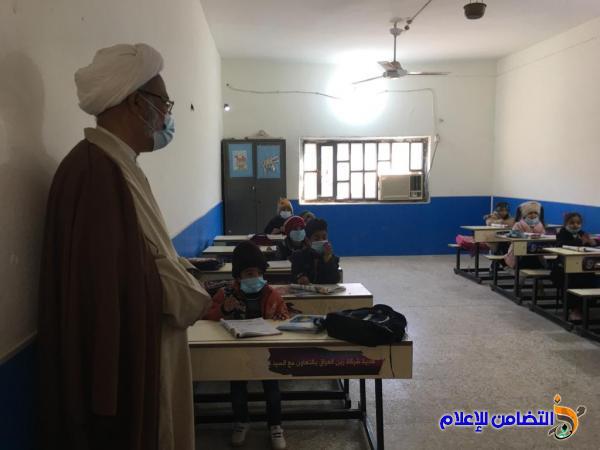 المشرف العام لمبرات التضامن  يحث التلاميذ على الالتزام بواجباتهم الدراسية  لدى المبرة الأولى في الناصرية