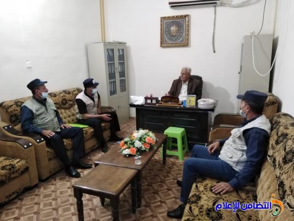 وفد من شعبة الشرطة المجمتعية يزور مكتب مبرات التضامن للأيتام في الناصرية