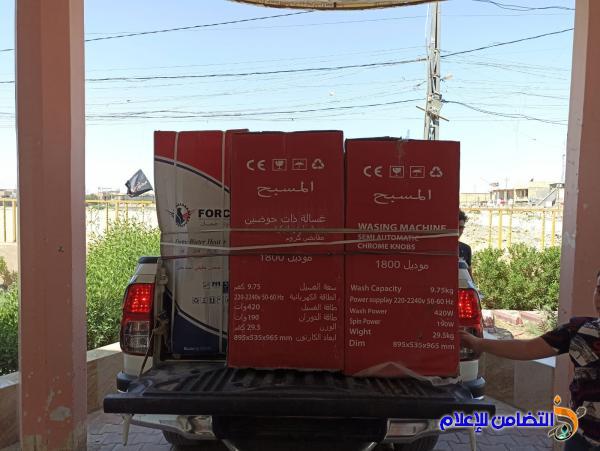 مكتب مبرات التضامن في الناصرية يوزع عـدد من المواد الكهربائية على عوائل الأيتام في قضاء النصــر