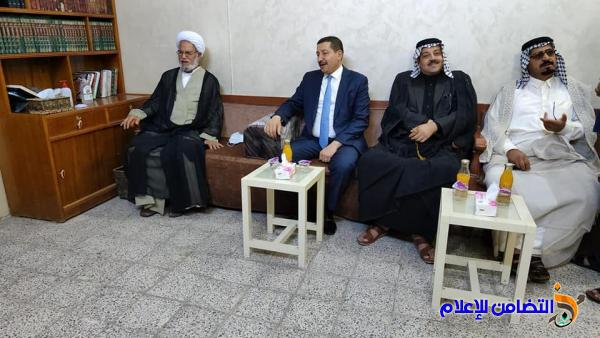 الشيخ محمد مهدي الناصري يستقبل القنصل الفرنسي السيد عادل الكنزاوي